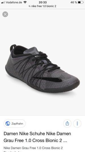 Nike Free 1.0 Cross Bionic 2, Gr. 37,5, grau-schwarz, neuwertig