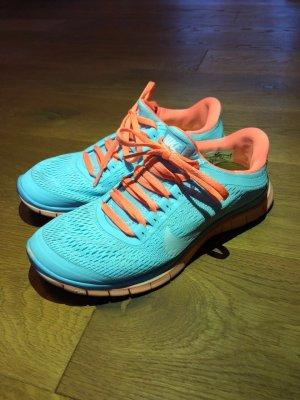 Nike Free 3.0 orange/blau Gr.37,5