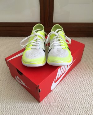 Nike Free 4.0 Damen Schuhe, neongelb / weiß, US Größe 8