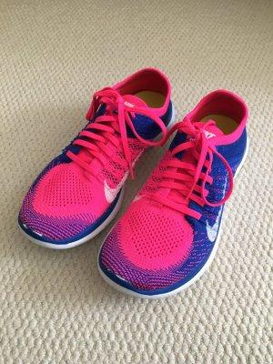 Nike Free 4.0 Damen Schuhe, neonpink / blau