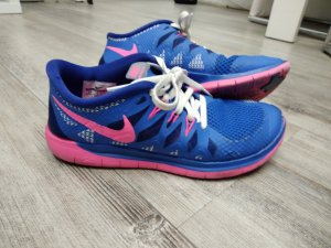 Nike free 5.0 blau pink