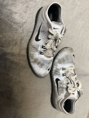 Nike Lace-Up Sneaker silver-colored-black mixture fibre