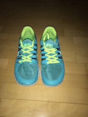 Nike Free 5.0 Türkis, gelb in Größe 42