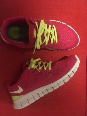 Nike Basket rose-vert fluo