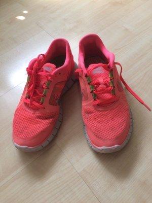 Nike Free Run 5.0, Größe 38,5, neon - getragen!