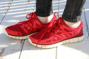 Nike Sneakers rood Synthetisch