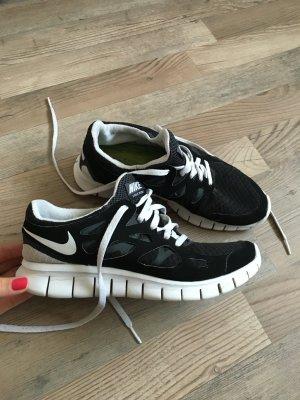 Nike free schwarz weiß 38,5
