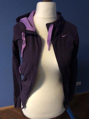 Nike Funktionssweatjacke in lila Stretch