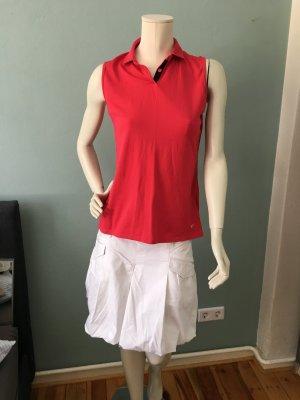 Nike Camiseta tipo polo rojo ladrillo