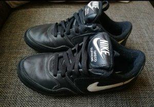 Nike Basket à lacet blanc-noir cuir