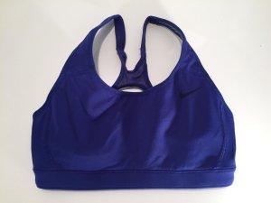 Nike Sporttop blauw Synthetische vezel