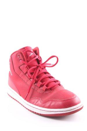 Nike High Top Sneaker dunkelrot-weiß Casual-Look