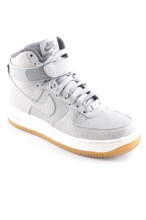 Nike High Top Sneaker hellgrau-grau sportlicher Stil