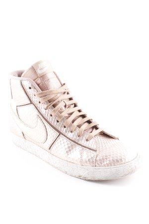 Nike High Top Sneaker roségoldfarben Fischgrätmuster Glanz-Optik