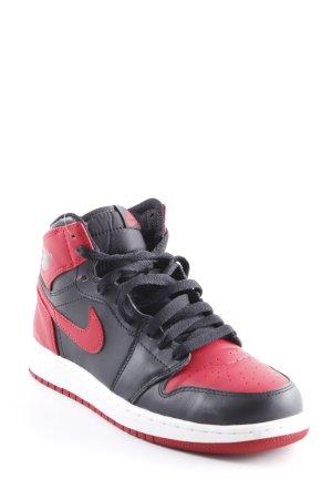 Nike High Top Sneaker schwarz-dunkelrot Skater-Look