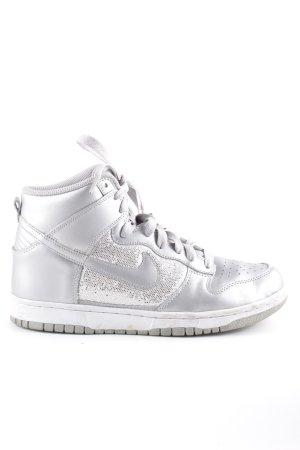 Nike High Top Sneaker silberfarben Glitzer-Optik