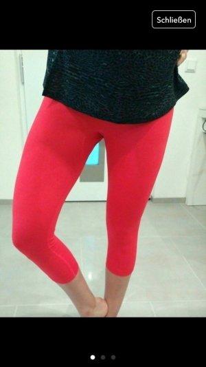 Nike Hose tight Sport gym orange rot Fitness leggings s xs 34 36