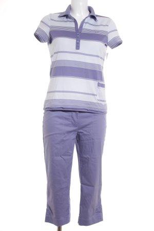 Nike Hosenanzug helllila-himmelblau Streifenmuster sportlicher Stil