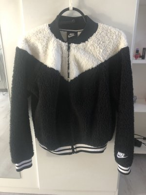Nike Fleece jack wit-zwart
