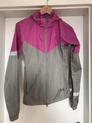 Nike Giacca sport grigio-rosa