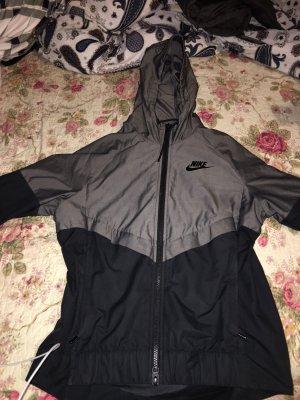 Nike Giacca con cappuccio nero-grigio