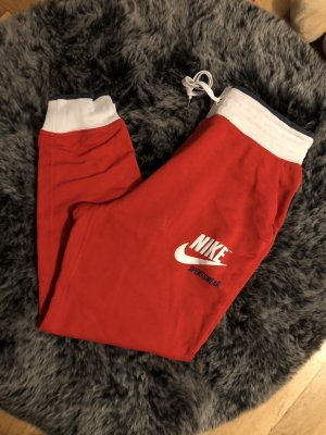 Nike Pantalon de sport blanc-rouge