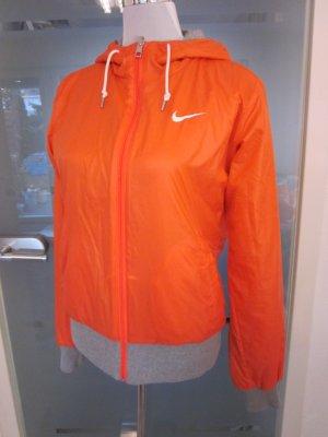 #Nike Kaputzensweat Wende Jacke Lachs Grau Gr L