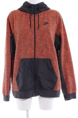 Nike Kapuzenjacke schwarz-dunkelorange sportlicher Stil