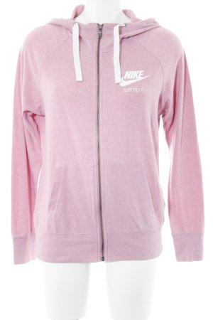 Nike Kapuzenjacke weiß-hellrosa meliert Skater-Look