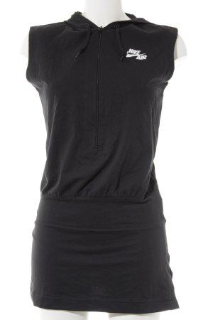 Nike Vestido con capucha negro estilo deportivo