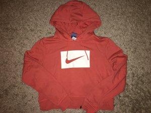 Nike Capuchon sweater wit-donker oranje