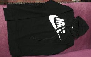 Nike Maglione con cappuccio nero-bianco