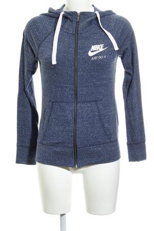 Nike Pull à capuche bleu foncé-gris ardoise style décontracté