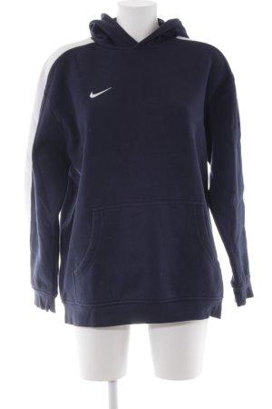 Nike Jersey con capucha azul oscuro-blanco estilo deportivo