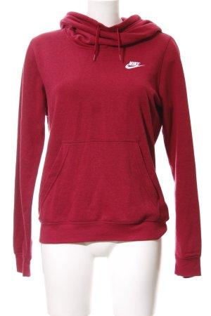 Nike Kapuzenpullover dunkelrot Casual-Look