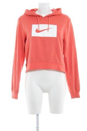 Nike Maglione con cappuccio salmone-bianco stile casual