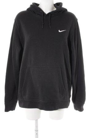 Nike Kapuzenpullover schwarz-weiß Motivdruck Casual-Look