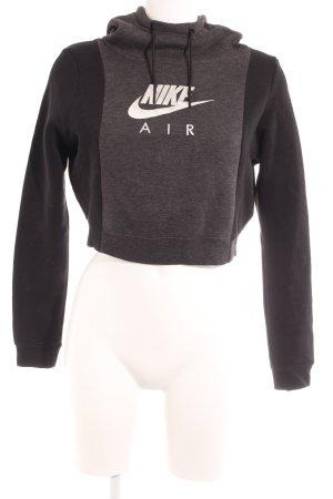 Nike Kapuzensweatshirt dunkelgrau-schwarz Schriftzug gedruckt Casual-Look
