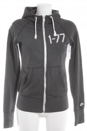 Nike Kapuzensweatshirt hellgrau-dunkelgrau Schriftzug gestickt sportlicher Stil