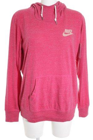 Nike Hooded Sweatshirt magenta-pink printed lettering skater style