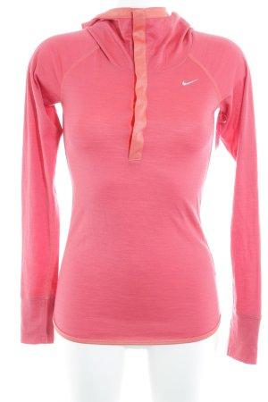 Nike Kapuzensweatshirt neonrot sportlicher Stil