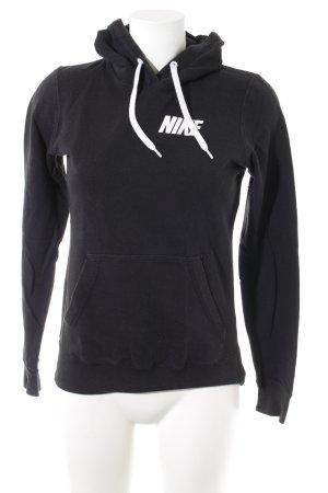 Nike Kapuzensweatshirt schwarz-weiß sportlicher Stil