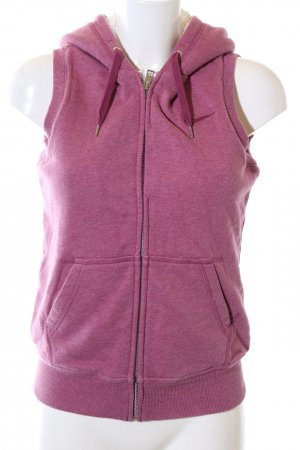Nike Chaleco con capucha rosa moteado look casual