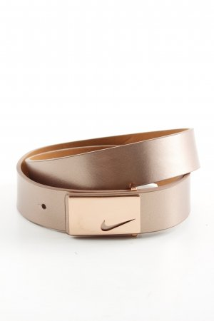 Nike Leather Belt bronze-colored casual look