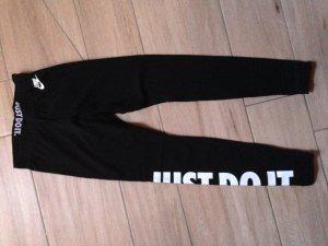 Nike Leggings Größe S schwarz weiß just do it