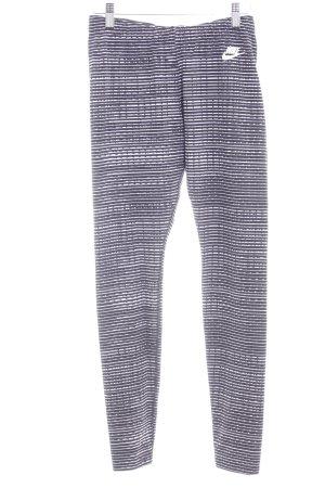 Nike Leggings schwarz-weiß Streifenmuster Casual-Look