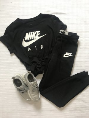 Nike leggins, tight, Jogginghose, Joggers, slim fit, schwarz, Just do it Bund
