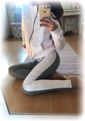 Nike leggins, tight, just do it, Nike Air, grau hellrosa, Gr. S