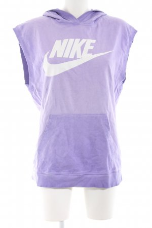 Nike Long Cardigan lilac-white casual look