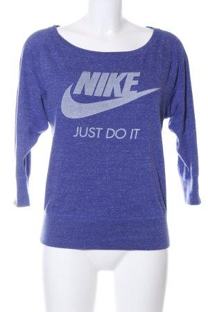 Nike Longsleeve blau-hellgrau meliert Casual-Look